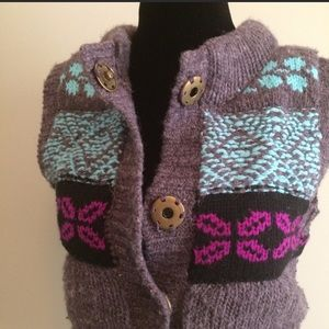 Free People fair isle Sweater vest jacket - small